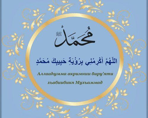 Дуа чтобы увидеть во сне Пророка Мухаммада
